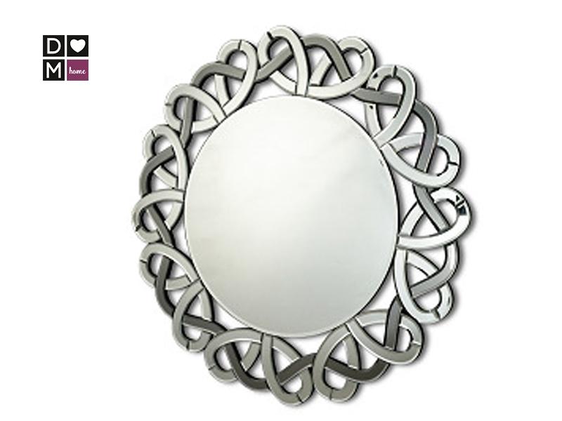 Зеркало круглое с рамкой-лентой