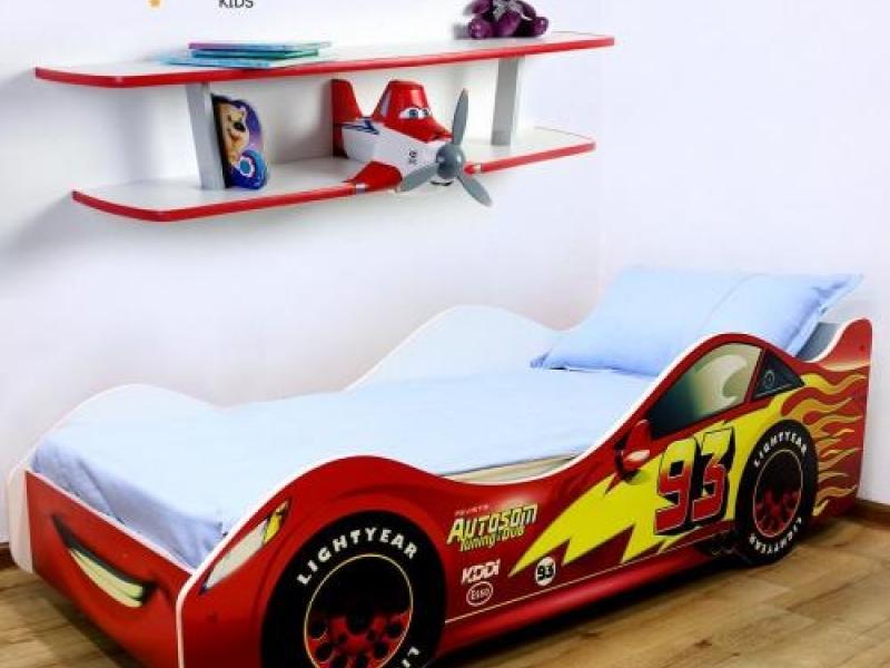 Детские кровати машинки c матрасом