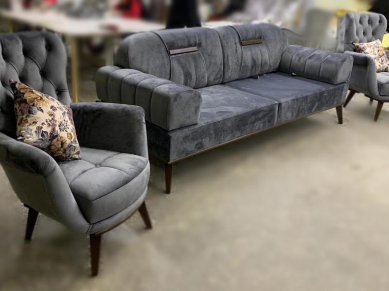 Диван и 2 кресла Модель ТР Беж