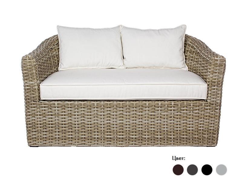 Диван плетеный с подушками