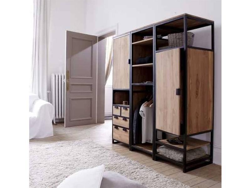 Гардебный шкаф в стиле лофт