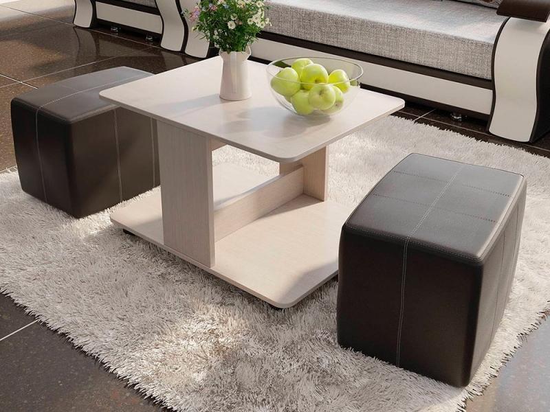 Журнальный стол с пуфиками Капри