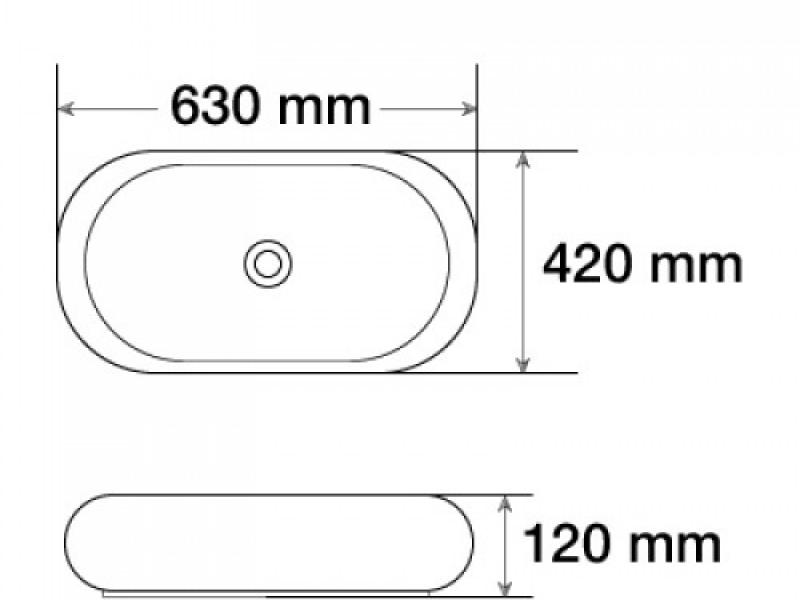 Керамическая раковина для ванной MLN-7042SP-1
