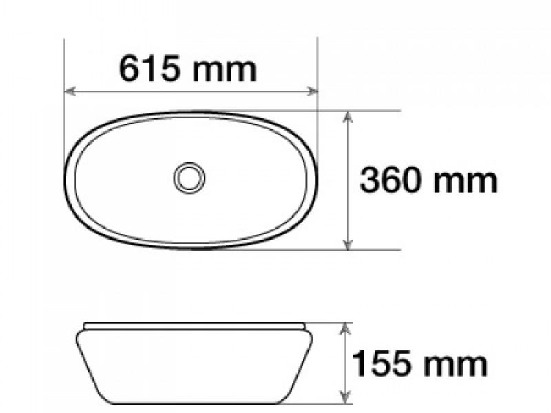 Керамическая раковина для ванной MLN-7811AMB