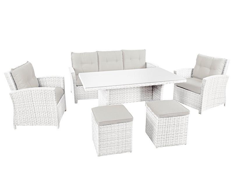 Комплект плетеной мебели с подушками