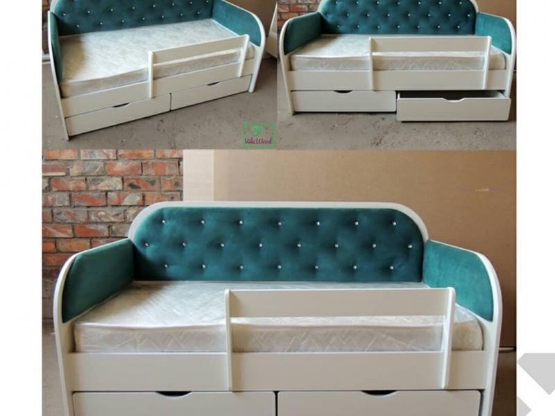 Белла 4 Кровать диван  с мягкими стенками