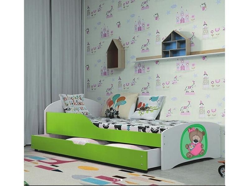 Кровать Милка 1 Кровать 2 цвета с цельным защитным бортиком,