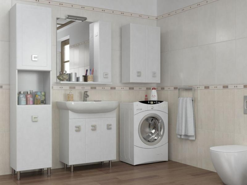 Мобис 65 (R) - шкаф настенный с зеркалом для ванной комнаты в коплекте с подсветкой LORENA