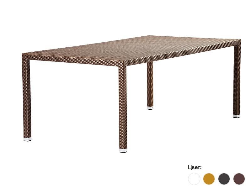 Плетеный обеденный стол