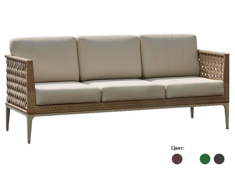 Плетеный трехместный диван 2