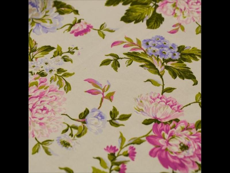 портьера с рисунком, Лен цвет: Фиолетовый