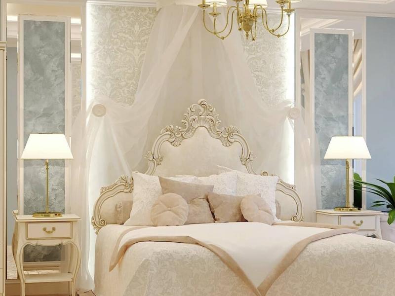 Проект нежной, романтичной спальни
