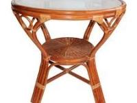 Стол из натурального ротанга