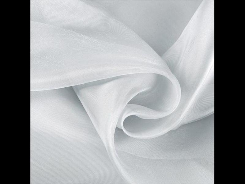 тюль однотонный, Органза цвет: Белый