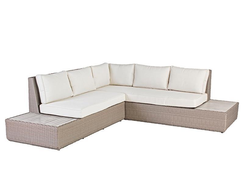 Угловой комплект плетеной мебели