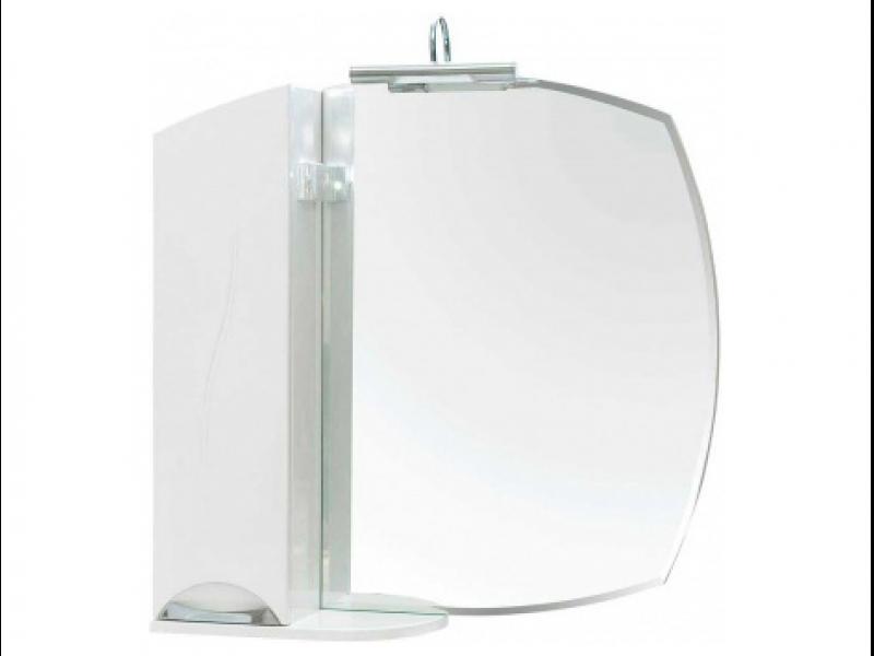 Зеркало для ванной Аква Родос Глория ZGLP 75 левое в комплекте с подсветкой ANDREA